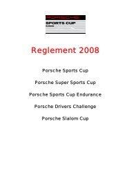 Ausschreibung Porsche Sports Cup 2007 - Verband Schweizer ...