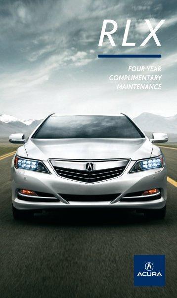 Complimentary Maintenance Brochure - Acura