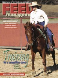 Feed Management Article - Animal Science Department