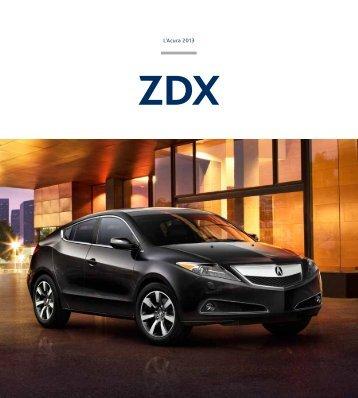 Brochure PDF ZDX - Acura