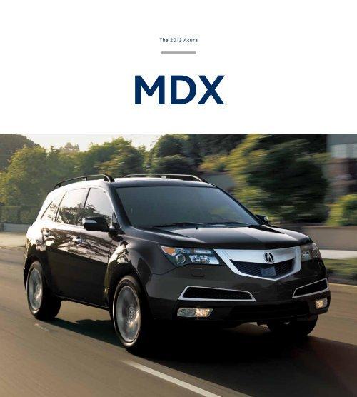 2013 MDX Brochure
