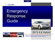 Download Acura HYBRID Emergency Response Guide