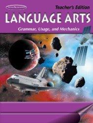 Language Arts: Grammar, Usage, and Mechanics Teacher's Edition