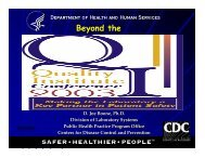 Beyond the - Centers for Disease Control and Prevention