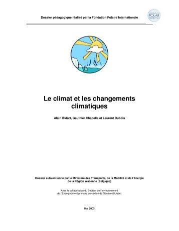 Le climat et les changements climatiques