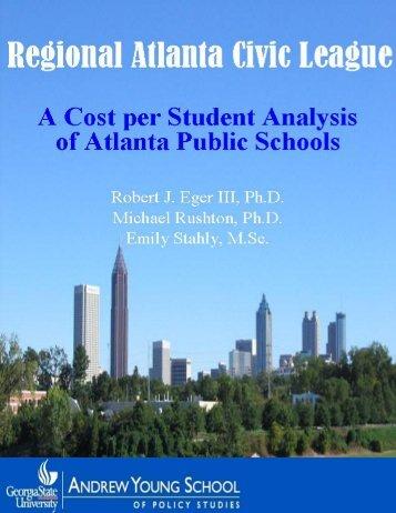 A Cost per Student Analysis of - Atlanta Public Schools