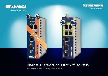 n ew ! industrial remote connectivity routers - Klinkmann.