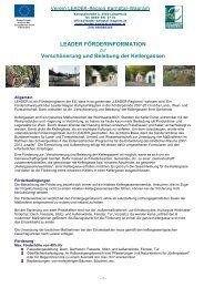 Informationen zur Kellergassenförderung - LEADER Kamptal Wagram