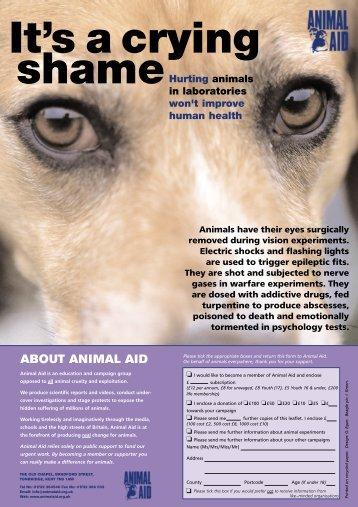 Crying Shame - Animal Aid