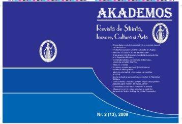 Academos. pentru PDF.indd - Akademos - Academia de Ştiinţe a ...