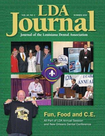 Fun, Food and C.E. - Louisiana Dental Association