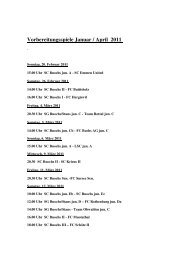 Vorbereitungsspiele Januar / April 2011 - SC Buochs