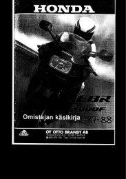 CBR1000F 1987-88 käsikirja (.pdf, 1.92 MB) - Honda