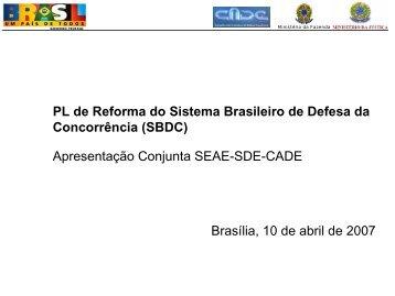 PL de Reforma do Sistema Brasileiro de Defesa da ... - Cesa