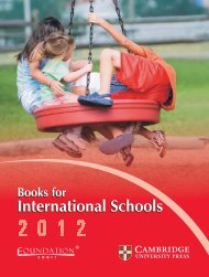 international schools catalogue 2012 Final-7-11-2011 - Cambridge ...