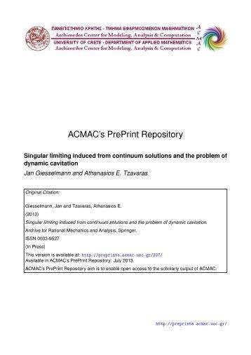 Download (333Kb) - ACMAC's PrePrint Repository