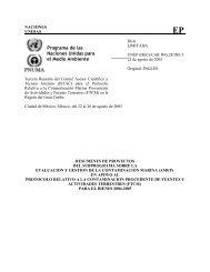 Programa de las Naciones Unidas para el Medio Ambiente - UNEP