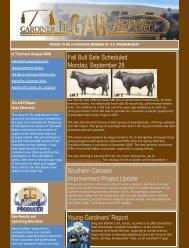 Gardiner Angus Ranch August Newsletter - Beef