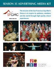season 35 advertising media kit - San Francisco Gay Men's Chorus