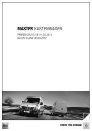 MASTER KASTENWAGEN - Renault-Angebote