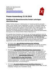 gesamter Pressetext - Plattform für Menschenrechte Salzburg