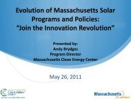 """Evolution of Massachusetts Solar Programs and Policies: """"Join the ..."""