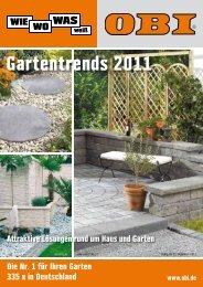 Gartentrends 2011 - Obi