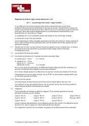 Règlement de la Boxe Léger contact (dénommé ... - Boxclub Basel