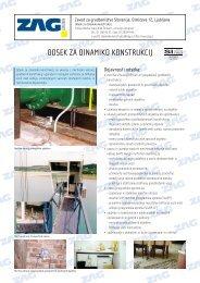 Predstavitev in dejavnosti odseka za dinamiko konstrukcij