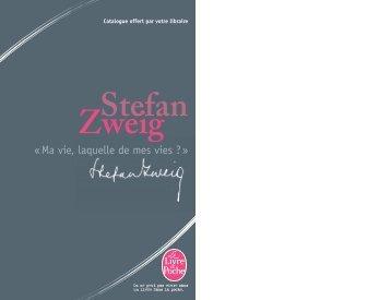 Stefan Zweig - Le Livre de Poche
