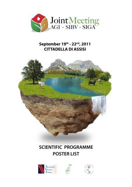 Scientific Programme Poster List Societã Italiana Genetica