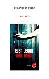 Moi, Anna - Le Livre de Poche
