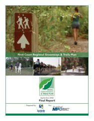 Regional Greenways & Trails Plan - North Florida TPO