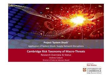 Download the presentation slides - Centre for Risk Studies