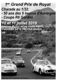 1er Grand Prix de Royat - Slot auvergne