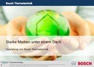 Starke Marken unter einem Dach - Bosch-Career