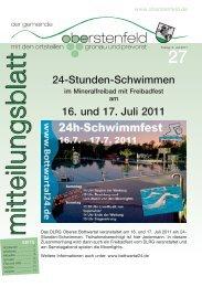 Publ oberstenfeld Issue kw27 Page 1 - Gemeinde Oberstenfeld
