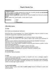 Regole Calcetto Cup - N.e.t.z.