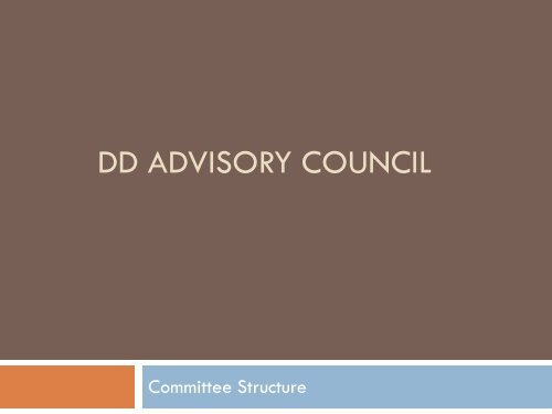 Committee Structure - Department of Behavioral Health and ...