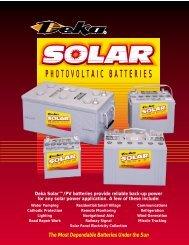 PHOTOVOLTAIC BATTERIES - Solar Panels