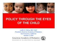 I WANT - American Academy of Pediatrics National Conference ...
