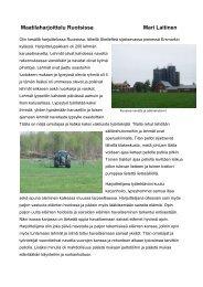 Maatilaharjoittelu Ruotsissa Mari Laitinen - Oamk