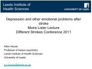 Depression and other emotional problems after ... - Different Strokes