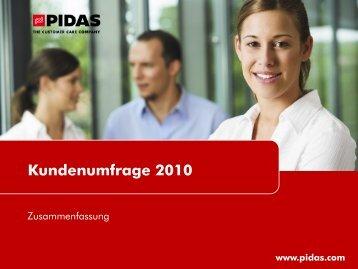 Download PIDAS Kundenumfrage 2010
