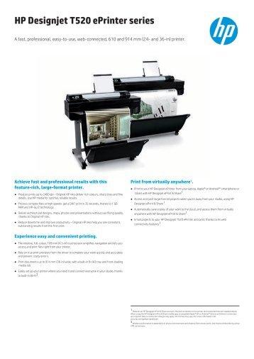HP Designjet T520 ePrinter series - OK-beint