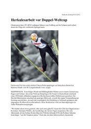 Herkulesarbeit vor Doppel-Weltcup - Skiclub Hinterzarten