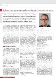 Implementierung von Behandlungspfaden mit integrierter ...