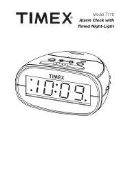 Model T307 Preset Tuning Clock Radio with MP3 line