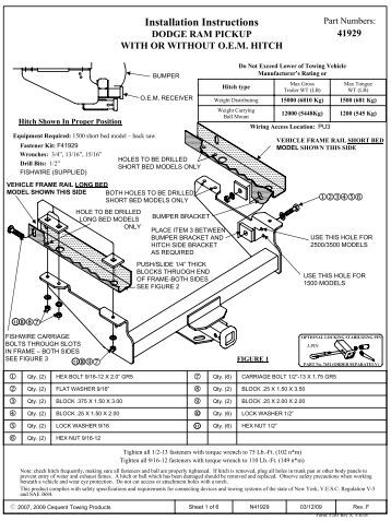 Mechanical Seal General Installation Instructions