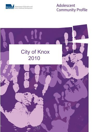 Knox (PDF - 2.6Mb) - Department of Education and Early Childhood ...